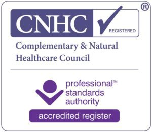 I am a Complementary & Natural Healthcare council registered therapist CNHC